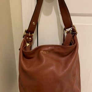 Authentic coach leather brown bag